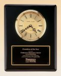Black Piano Finish Vertical Wall Clock Achievement Award Trophies