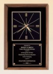 American Walnut Wall Clock Achievement Award Trophies