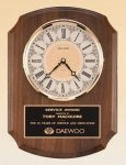 American Walnut Vertical Wall Clock. Achievement Award Trophies