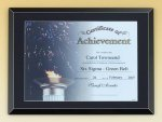 Black Glass Certificate Plaque Achievement Award Trophies