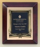 Cherry Finish Wood Frame Plaque with Wreath Achievement Award Trophies