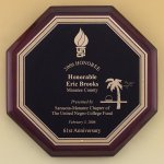 Octagonal Rosewood Piano Finish Plaque Achievement Award Trophies