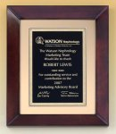 Cherry Finish Wood Frame Plaque Achievement Award Trophies