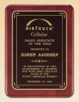 Rosewood Piano Finish Plaque with Brass Plate Achievement Award Trophies