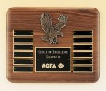 Eagle American Walnut Perpetual Plaque Achievement Award Trophies