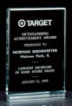 Classic Series 1 Thick Free-standing Acrylic Award. Achievement Award Trophies