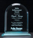 Arch Series Acrylic Award on Acrylic Base. Achievement Award Trophies