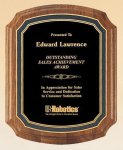 American Walnut Notched Plaque Achievement Award Trophies