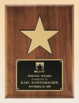 American Walnut Plaque with 5 Gold Star Achievement Award Trophies