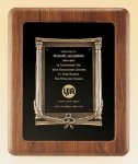 American Walnut Frame with Antique Bronze Casting Achievement Award Trophies