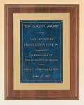 American Walnut Plaque with Gold Embossed Frame Achievement Award Trophies