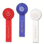 Classic Single Streamer Rosette Award Ribbon Baseball Trophy Awards