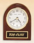 Rosewood Piano Finish Desk Clock Boss Gift Awards