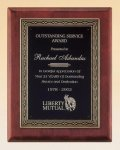 Rosewood Piano Finish Plaque Cast Relief Plaques