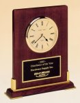 Desk Rosewood Piano Finish Clock Desk Clocks