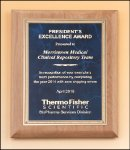 Alder wood plaque Employee Awards
