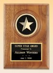 American Walnut Star Plaque Employee Awards