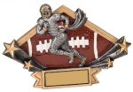 Football Diamond Star Plate Resin Trophy Football Trophy Awards