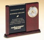 Versatile Clock Rosewood Piano Finish Desk Clock Golf Awards