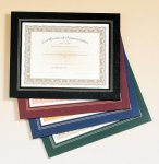 Leatherette Frame Certificate Holder Gymnastics Trophy Awards