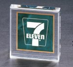 Emerald Marble Square Acrylic Paper Weight Marble Awards