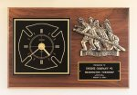 Fireman Award Clock with Antique Bronze Finish Casting. Patriotic Awards