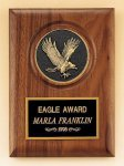 American Walnut Plaque with Eagle Casting Patriotic Awards