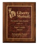 Cherry Finish Plaque Award Recognition Plaques