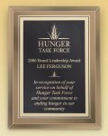 Gold Mirror Glass Plaque with Brass Plate Recognition Plaques