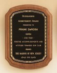 American Walnut Plaque with Braided Border Recognition Plaques