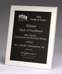 Polished Silver Aluminum Frame Plaque Recognition Plaques