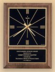 American Walnut Vertical Wall Clock with Square Face. Religious Awards