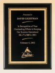 Black Piano Finish Plaque with Brass Plate Religious Awards