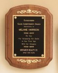 American Walnut Plaque with Decorative Accents Religious Awards