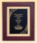 Rosewood Piano Finish Frame with Brass Plate Sales Awards