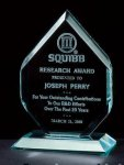 3/4 Thick Polished Diamond Acrylic Award Traditional Acrylic Awards