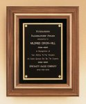 American Walnut Framed Plaque with Gold Trim Walnut Plaques