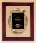 Rosewood Piano Finish Frame Plaque with Cast Relief Wood Cast Awards